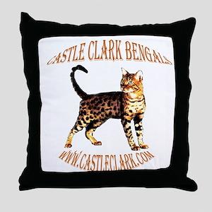 Castle Clark Bengal Cat: Raja Throw Pillow
