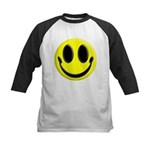 Smiley Face Kids Baseball Jersey