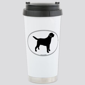 Black Lab Outline Stainless Steel Travel Mug