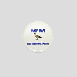 Half Man Half Peregrine Falcon Mini Button