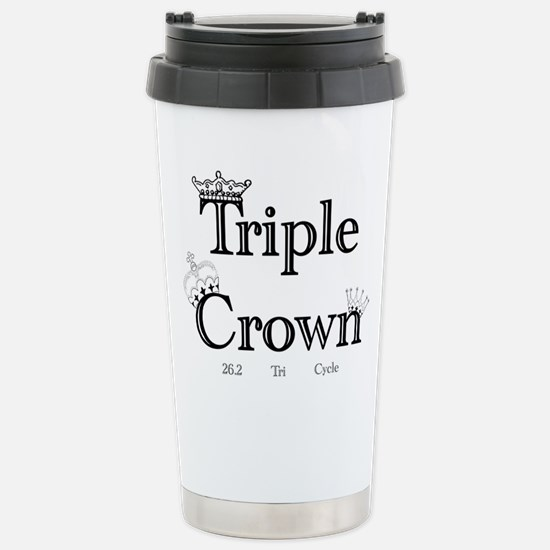 Triple Crown Stainless Steel Travel Mug