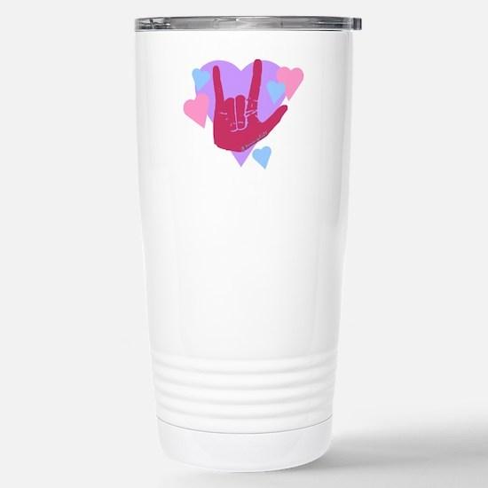 ILY Hearts Stainless Steel Travel Mug