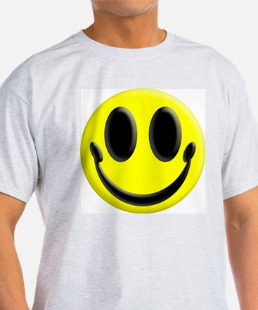 Smiley Face Ash Grey T-Shirt