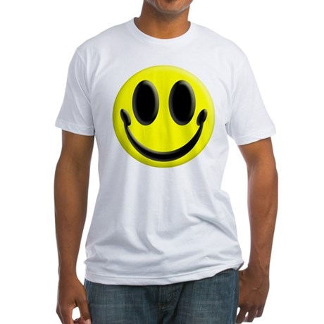 Smiley Face Fitted T-Shirt