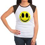 Smiley Face Women's Cap Sleeve T-Shirt
