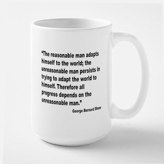 Shaw Progress Quote Large Mug