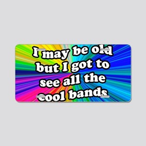 All the Cool Bands Aluminum License Plate