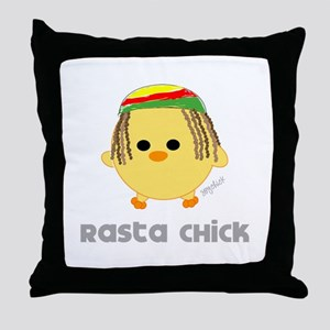 Rasta Chick Throw Pillow