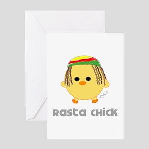 Rasta greeting cards cafepress rasta chick greeting card m4hsunfo