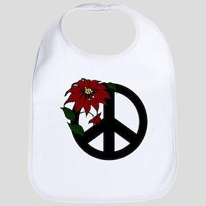 Holiday Peace Sign Bib