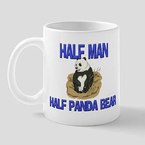 Half Man Half Panda Bear Mug