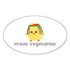 Proud Rasta Vegetarian Oval Sticker