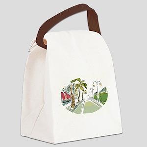 WATERCOLOR PARADISE Canvas Lunch Bag