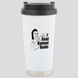 Read Banned Books Stainless Steel Travel Mug