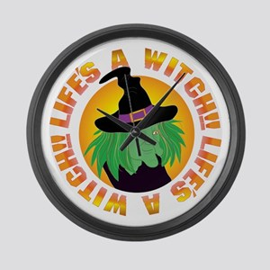 Life's a Witch Large Wall Clock