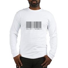 Dairy Farmer Barcode Long Sleeve T-Shirt