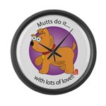 Mutts Do It Large Wall Clock