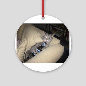 Drunk Cat Ornament (Round)