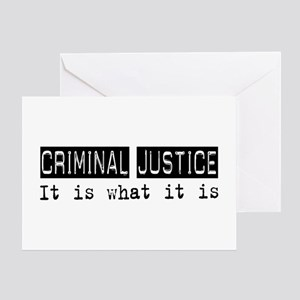 Criminal Justice Is Greeting Card