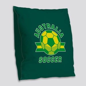 Australia Soccer Burlap Throw Pillow