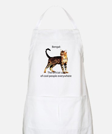 Cool people love bengals BBQ Apron