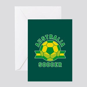 Australia Soccer Greeting Card