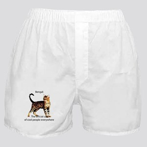 Cool people love bengals Boxer Shorts