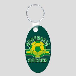 Australia Soccer Aluminum Oval Keychain