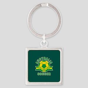 Australia Soccer Square Keychain