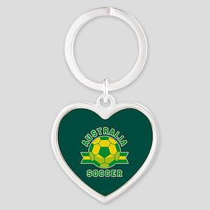 Australia Soccer Heart Keychain