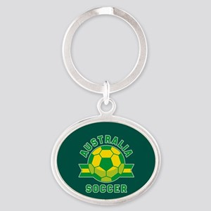 Australia Soccer Oval Keychain