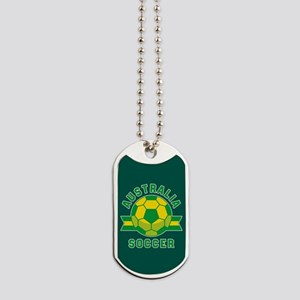 Australia Soccer Dog Tags