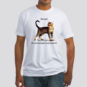 Cool people love bengals Fitted T-Shirt