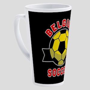 Belgium Soccer 17 oz Latte Mug