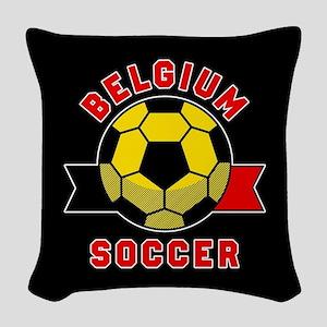 Belgium Soccer Woven Throw Pillow