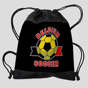 Belgium Soccer Drawstring Bag
