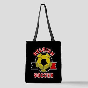 Belgium Soccer Polyester Tote Bag