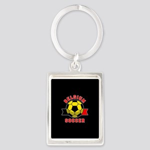 Belgium Soccer Portrait Keychain
