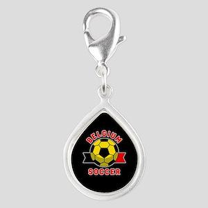 Belgium Soccer Silver Teardrop Charm