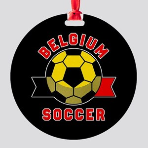 Belgium Soccer Round Ornament