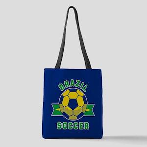 Brazil Soccer Polyester Tote Bag
