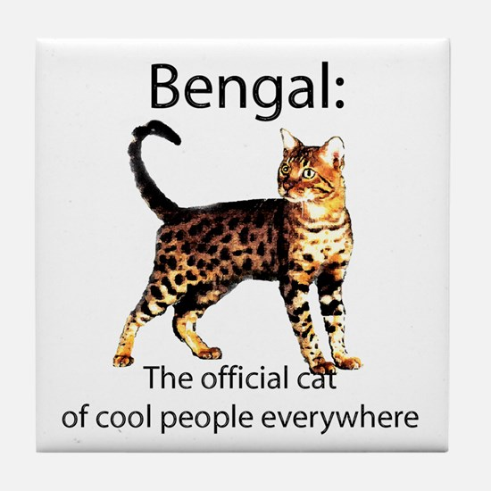 Cool people love bengals Tile Coaster