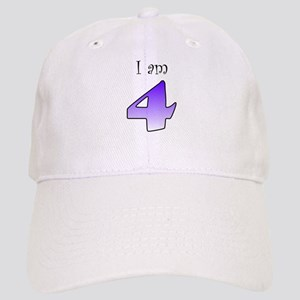 I am 4 (purple) Cap