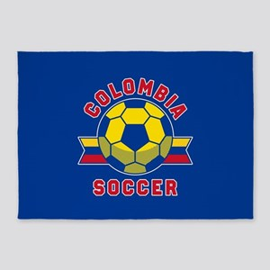 Colombia Soccer 5'x7'Area Rug