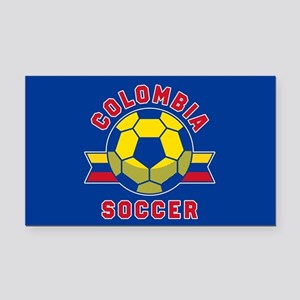 Colombia Soccer Rectangle Car Magnet