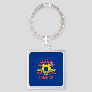 Colombia Soccer Square Keychain