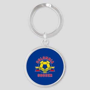 Colombia Soccer Round Keychain