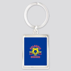 Colombia Soccer Portrait Keychain
