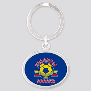 Colombia Soccer Oval Keychain