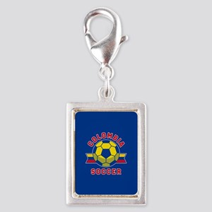 Colombia Soccer Silver Portrait Charm